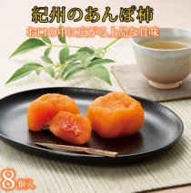 G6050_紀州かつらぎ山のあんぽ柿 化粧箱入 約500g(8個入)