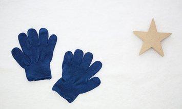 L-5 藍染Kids手袋(オーガニックコットン)