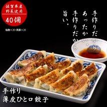 A8-098 手作り薄皮ひと口餃子セット(各20個 X 2)(塩麹、黒豚)ギョウザ