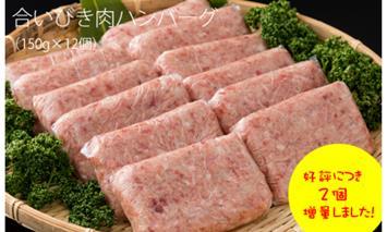 B10-107 佐賀県産合いびき肉ハンバーグ(150g×12個)すぎもと