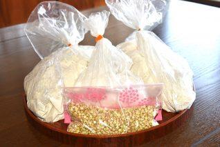 そば処 白水 蕎麦粉・蕎麦の実セット(打ち粉付き) 蕎麦粉500g×2袋、蕎麦の実100g×1袋