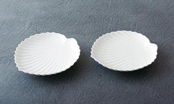 X839 嘉久正窯 棕櫚葉形皿2枚