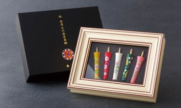 X920 世界文化遺産登録記念和蝋燭(額入碇型2匁和蝋燭5本入)