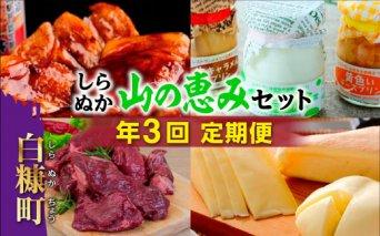 しらぬか山の恵みセット【年3回定期便】(50,000円)