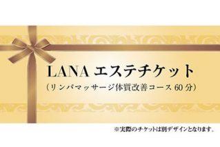B10-127 LANAエステチケット(リンパマッサージ体質改善コース60分)