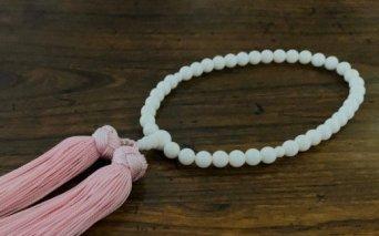 KN031白珊瑚 片手数珠