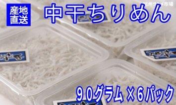 ZA6140_しらす 【高級】湯浅産 中干ちりめん「食べきりサイズ90g」6パックセット【紀州グルメ市場】