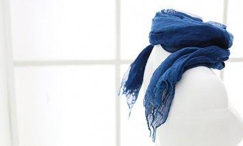 L-14 本藍染ストール①