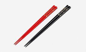 輪島塗 夫婦箸(梅沈金)