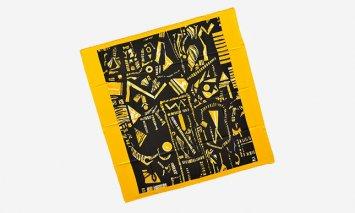 J-9 スカーフ 黄色の星座 イエロー