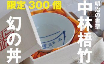C30-019 幻の梧竹丼ぶり(明治の三筆/中林梧竹考案)