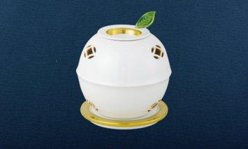 X828 嘉祥窯 釉裏金彩鈴形茶香炉