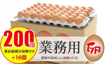 B12-115 業務用卵(200個+破損保証卵16個入り)ダンボール送り