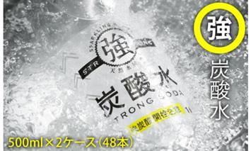 B10-088 【強】炭酸水ストロングウォーター(500ml)24本×2ケース