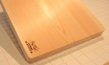 AA6001_紀州ヒノキ(一枚板)まな板 家具職人カンナ造り【ギフト対応】