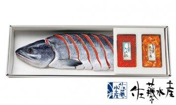 E-030 熟成新巻鮭半身・いくら・鮭ルイベ漬