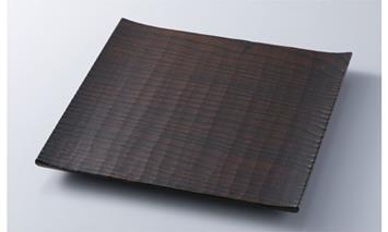 【L-581】木用美工房 栗拭漆七寸皿 [高島屋選定品]