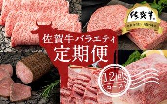 G200-003 【定期便】 佐賀牛バラエティ12回(毎月)セット (お肉の定期便) 20万円コース