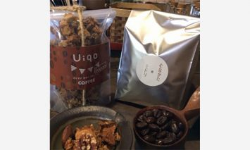 M1174_「ハナウタコーヒー」の珈琲と「Uiqo」のグラノーラのコラボセット