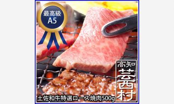SNY031土佐和牛特選ロース焼肉500g 牛肉