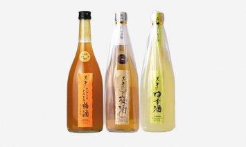 V6154_黒牛3本セット(梅酒720ml/ゆず酒720ml/とろーりとろとろ梅酒720ml)(E005)