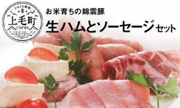 お米育ちの錦雲豚 絶品!生ハムとソーセージセット