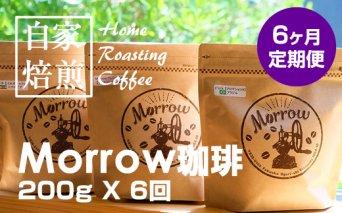 C25-014 【先行予約】【定期便】Morrow珈琲25定期便200g X 6ヶ月偶数月