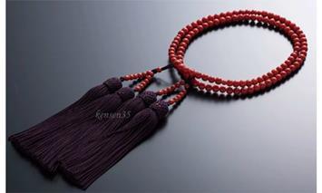 KN013赤珊瑚数珠(約4.8mm玉女性用小)