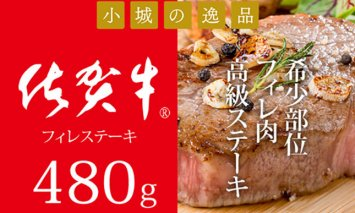 D50-035 佐賀牛フィレステーキ(480g)