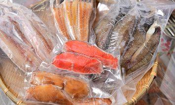竹花商店の干物セット5種類計10枚
