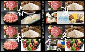 H400-001 【定期便】 (年4回お届け) フォーシーズン 小城定期便 佐賀牛 お米 アイス 炭酸水 野菜