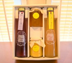 【上毛町産ブルーベリー・レモン使用】ジンジャーシロップ2種とレモンジャム・レモンカートのセット