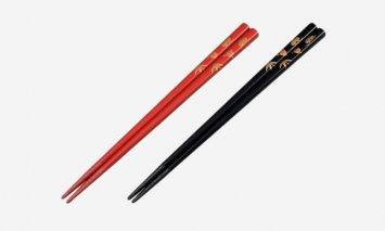輪島塗 夫婦箸(松竹梅蒔絵、手書き)