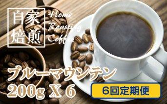 F100-060 【先行予約】【定期便】ブルーマウンテン(ストレート) 200g X 6回