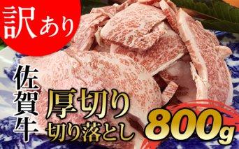 B10-174【訳あり】佐賀牛厚切り切り落とし800g