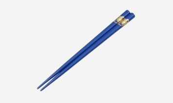 輪島塗 箸(こども用、くま、青)