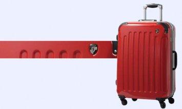 X907 PC7000スーツケース(Mサイズ・ロイヤルレッド)