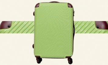 X915 ABS7352スーツケース(Sサイズ・グリーン×ココア)