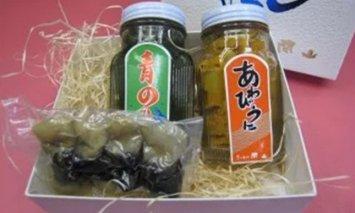 あわびうに・青のりの佃煮・アカニシ貝の酒蒸しセット