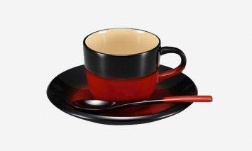 輪島塗 コーヒーカップ(曙、黒)