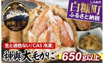 しらぬか産 CAS冷凍大毛がに【650g以上】(57,000円)