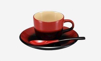 輪島塗 コーヒーカップ(曙、赤)
