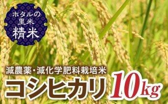令和3年産【ホタルの里米】減農薬・減化学肥料栽培米 コシヒカリ精米10kg