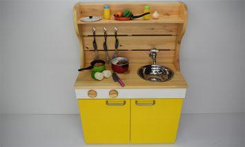 N6009_ままごとキッチンw590 黄