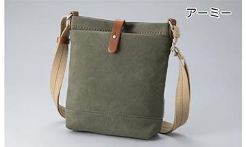 【J-402】ホソイフクロモノ キャンバスショルダーS(アーミー) [高島屋選定品]